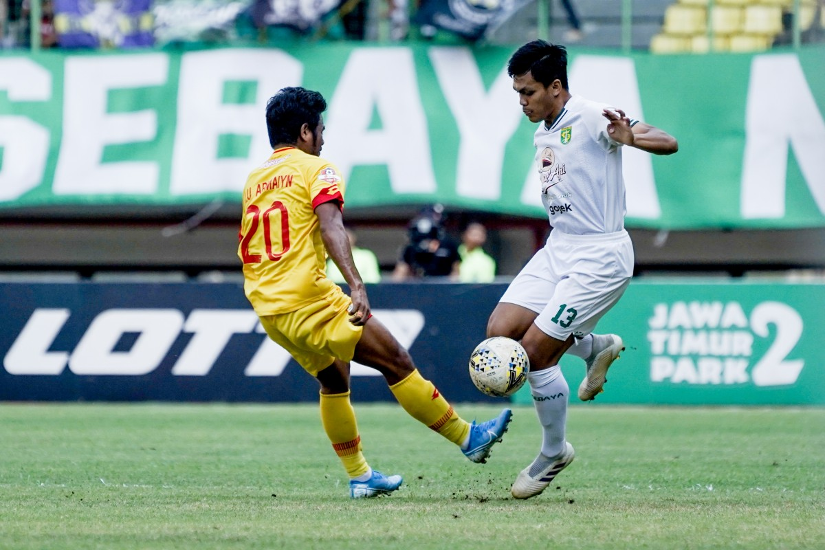 Rachmat Irianto saat bertanding pada laga Bhayangkara FC vs Persebaya